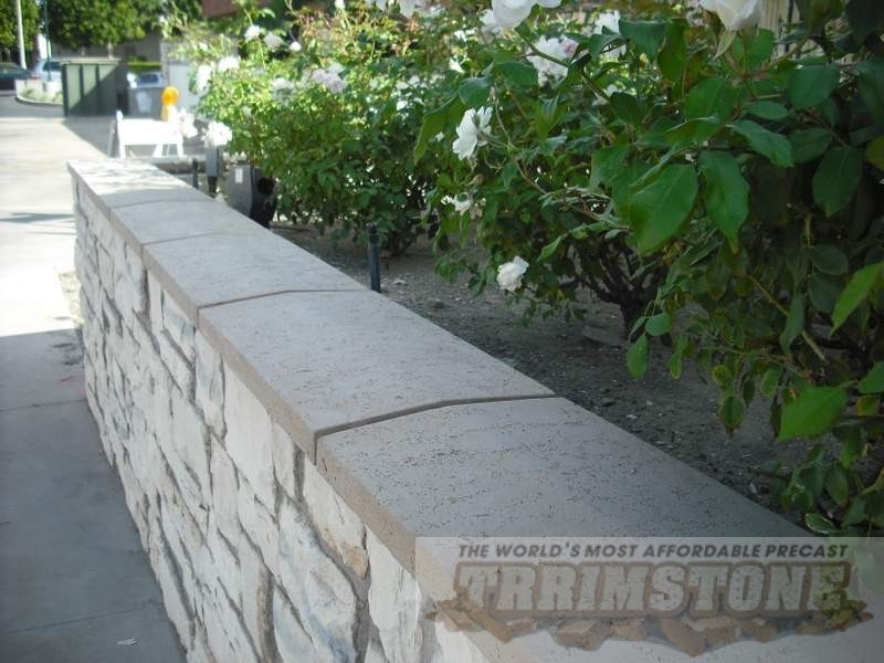 Precast Wall Coping : Trrimstone wall cap